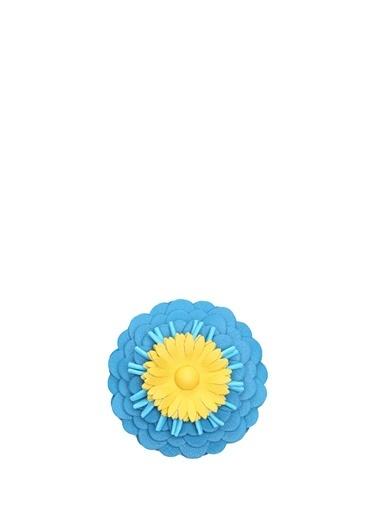 Loewe Loewe   Çiçek Formlu Kadın Deri Çanta Aksesuarı 101613425 Mavi
